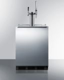 Summit SBC58BBICMTWINADA 24'' Wide Built-In Coffee Kegerator -SS, Black
