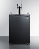 Summit SBC635M7CMTWIN 24'' Wide Coffee Kegerator - Black