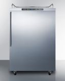 Summit SBC635MOS7NKHV 24'' Wide Outdoor Kegerator - Stainless Steel