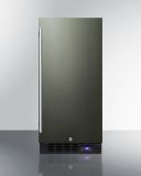 Summit SCFF1533BKS 15'' Built-In All-Freezer - Frost-Free, Black SS