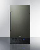 Summit SCFF1842KS 18'' Built-In All-Freezer - Frost-Free, Black SS