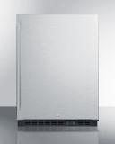 Summit SCR610BLSD 24'' Wide Built-In Beverage Center - SS, Black