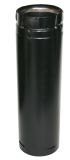Us Stove SD3012B Duravent Stainless Black Straight Pipe - 3'' x 12''