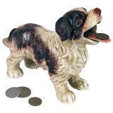 Cavalier King Charles Spaniel Dog Cast Iron Mechanical Coin Bank