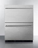 Summit SP6DBS2D7 24'' Wide 2-Drawer All-Refrigerator