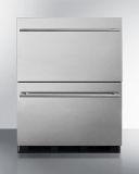 Summit SP6DBS2D7ADA 24'' Wide 2-Drawer All-Refrigerator with ADA