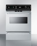 Summit TTM7212BKW 24'' Wide Gas Wall Oven - Stainless Steel