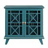 Walker Edison W32FWABU 32'' Accent Storage Cabinet - Blue