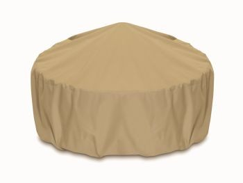 """Two Dogs 36"""" Fire Pit Cover - Khaki"""