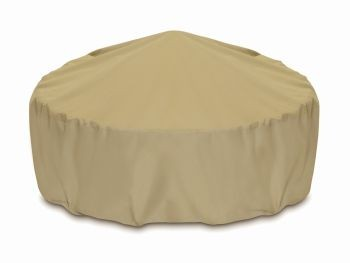 """Two Dogs 48"""" Fire Pit Cover - Khaki"""