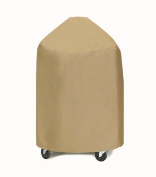 Two Dogs Large 29-inch Round Grill/Smoker Cover - Khaki
