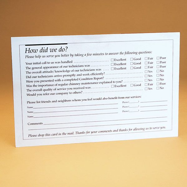 Copperfield 99201 Homeowner ''How Did We Do?'' Postcard - Pack of 250