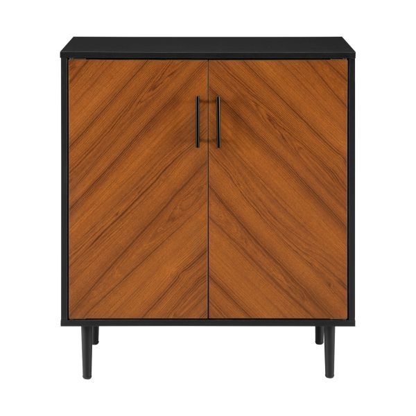 Walker Edison 28'' Modern Bookmatch Accent Cabinet - Solid Black