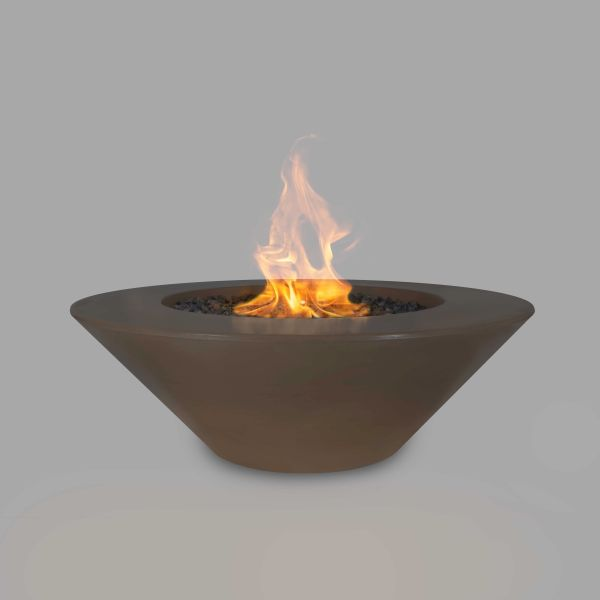 The Outdoor Plus 60'' Cazo Concrete Match Lit Fire Pit in Chocolate, NG
