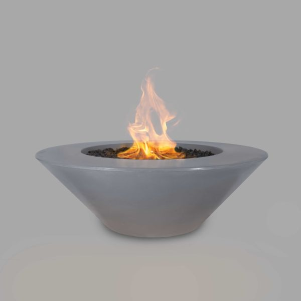The Outdoor Plus 60'' Cazo Concrete Match Lit Fire Pit in Gray - NG