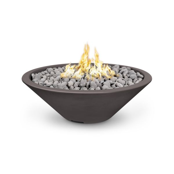 60'' Cazo Electronic Ignition Fire Pit in Chocolate - NG (Narrow Lip)