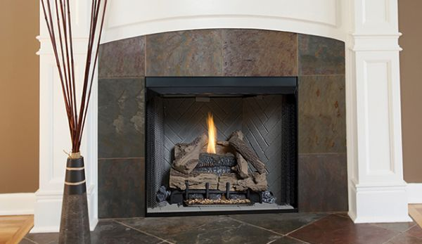 """VRT3236WS 36"""" Vent-Free Gas-Firebox w/Stacked Refractory - White"""