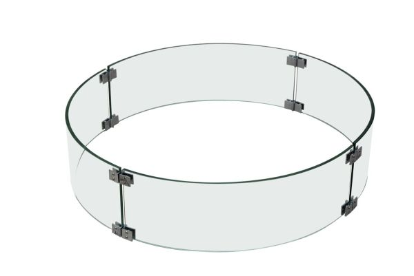 Elementi OFG104-WS Glass Wind Shield for Metropolis Table