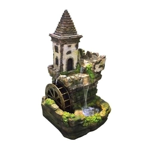 "35"" Castle Tiered Fountain By Alpine"