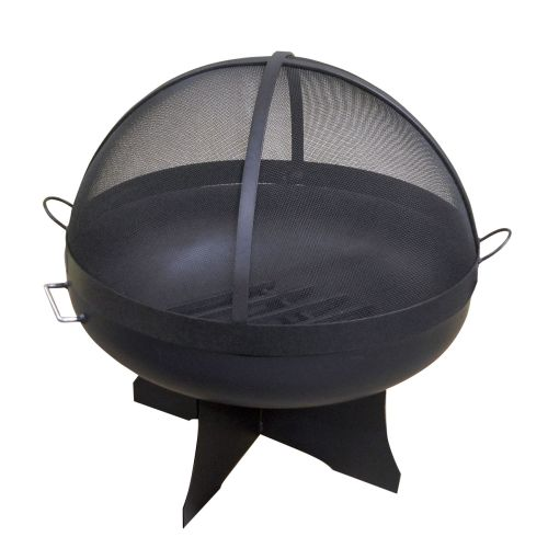 """36"""" Round Fire Pit with Standard X Base, CS Dome Screen and Grate"""