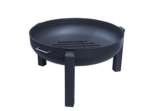 """36"""" Round Fire Pit with Tripod Base, SS Pivot Screen and Grate"""