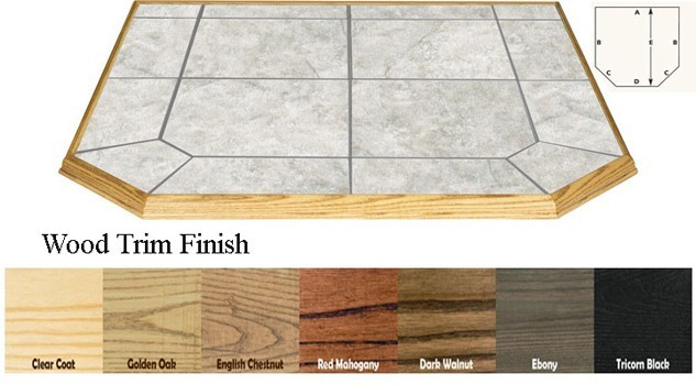 AJ Manufacturing 12in X 48in Type I Double Cut Ember Protection Hearth Board - Ice at Sears.com