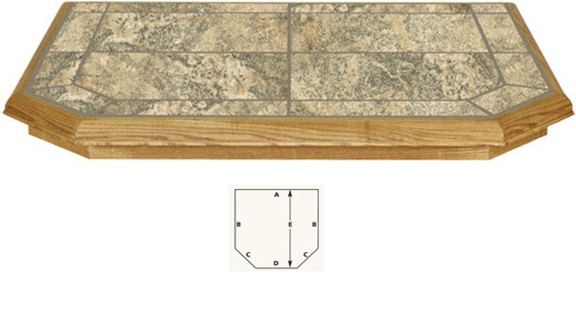 AJ Manufacturing Type I Double Cut 18In x 48 Ember Protection Hearth Board - Brownstone at Sears.com