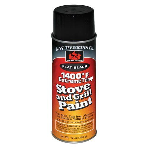 1400 Deg F Black Stove Paint Spray-On - 12 oz.