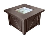 Decorative Hammered Bronze Firepit with Lid