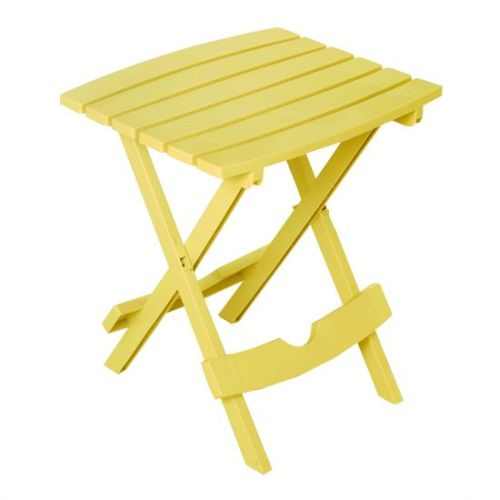 Quik-Fold Side Table in Yellow