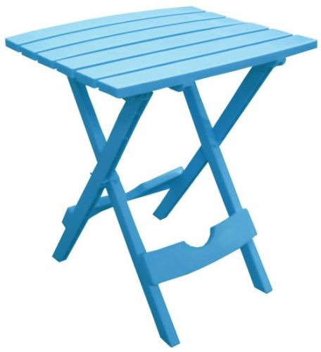 Quik-Fold Side Table in Pool Blue