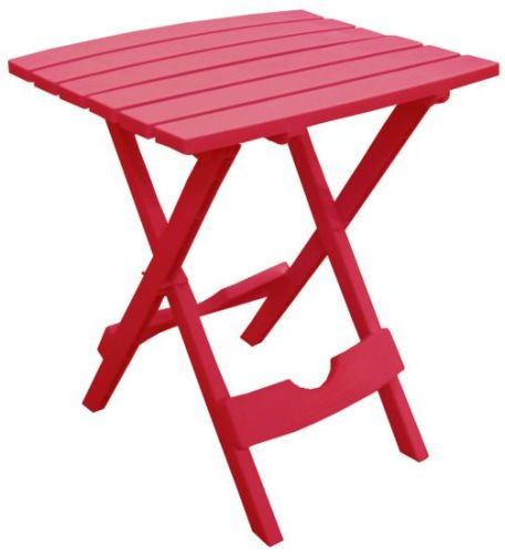 Quik-Fold Side Table in Cherry Red