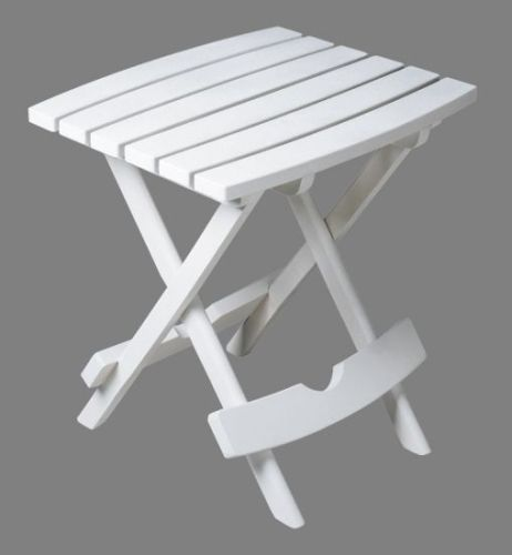 Quik-Fold Side Table in White