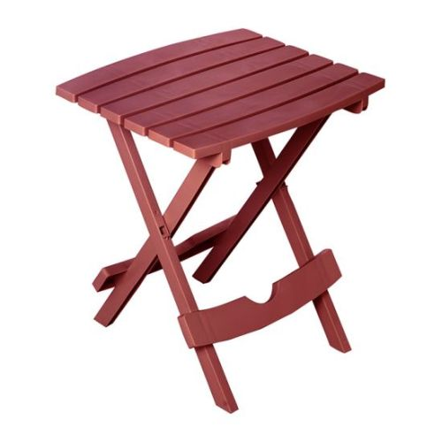 Quik-Fold Side Table in Merlot