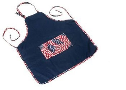 BBQ Apron - Navy/Flag Theme By Blue Flame