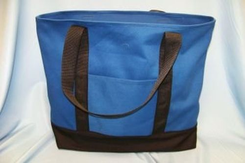 Polyester Fire Wood/Beach Tote - Pacific Blue
