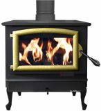 40.9K BTU NC Wood Burning Stove w/ Gold Door and and Reg. Black Legs