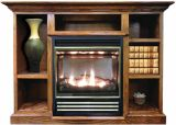 Buck Stove Vent Free Gas Stove w/ Prestige Mantel in Light Oak - NG