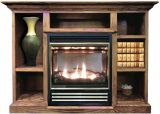 Buck Stove Vent Free Gas Stove w/ Prestige Mantel in Unfinished - NG