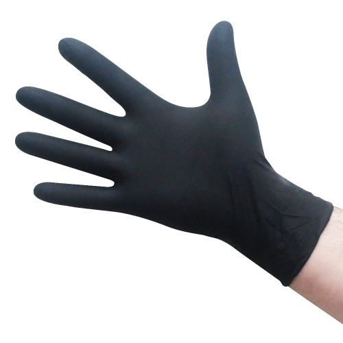 ExtraLarge Black Nitrile Gloves 5.5 Mil
