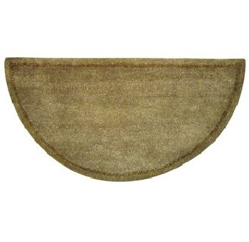 Beige Hand-Tufted 100% Wool Hearth Rug