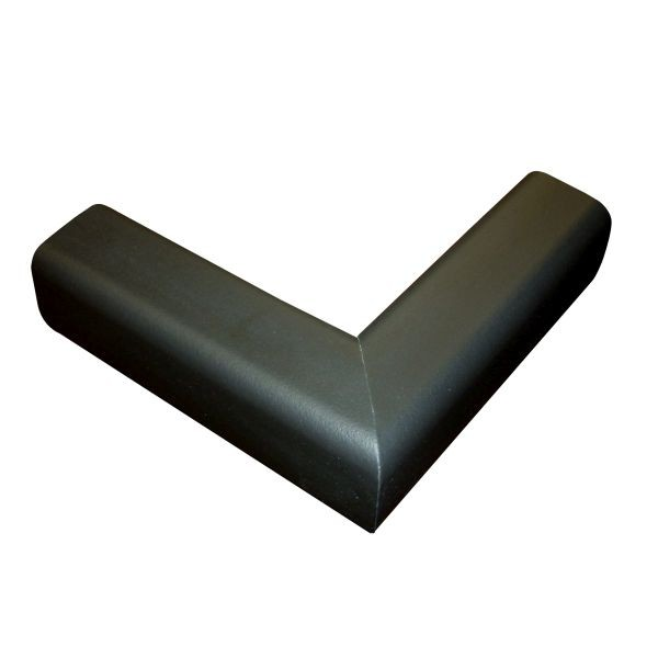 6.5' Hearth Bumper Padding Kit with 2 Corners and 4 Feet of Pad, Black
