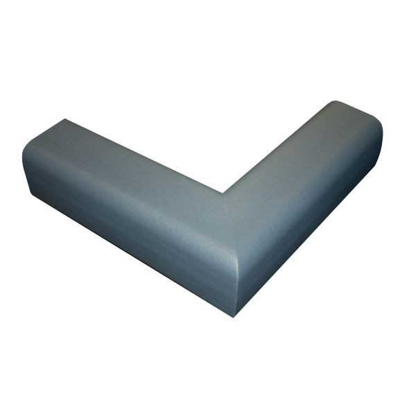 6.5' Hearth Bumper Padding Kit with 2 Corners and 4 Feet of Pad, Gray