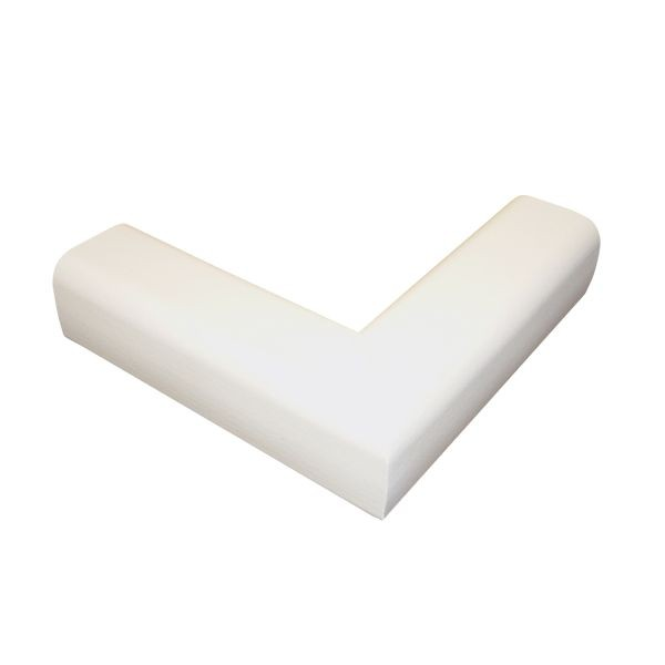 6.5' Hearth Bumper Padding Kit with 2 Corners and 4 Feet of Pad, Ivory