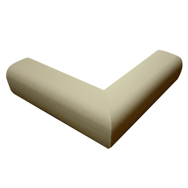 6.5' Hearth Bumper Padding Kit with 2 Corners and 4 Feet of Pad, Taupe