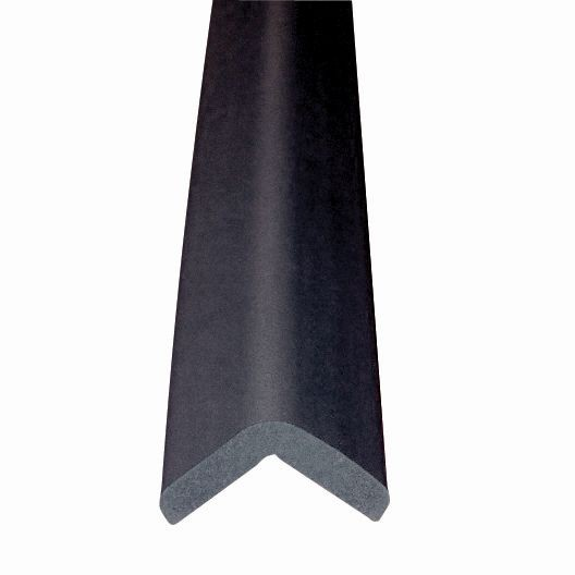 "Metal Backed 24"" Hearth Guard Mid Extension, Black"