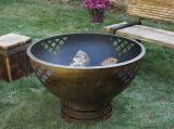 Woven Thoughts Fire Pit - Wood Burning