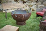 In God We Trust Fire Pit - Natural Gas - Electronic Ignition