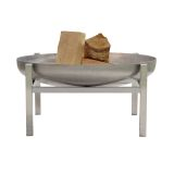 "Curonian Parnidis Fire Pit Large 31"" Stainless Steel"