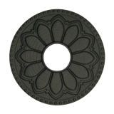 Blue Flame FCH.FB Magnetic Hermoa Flange Cover-Flat Black